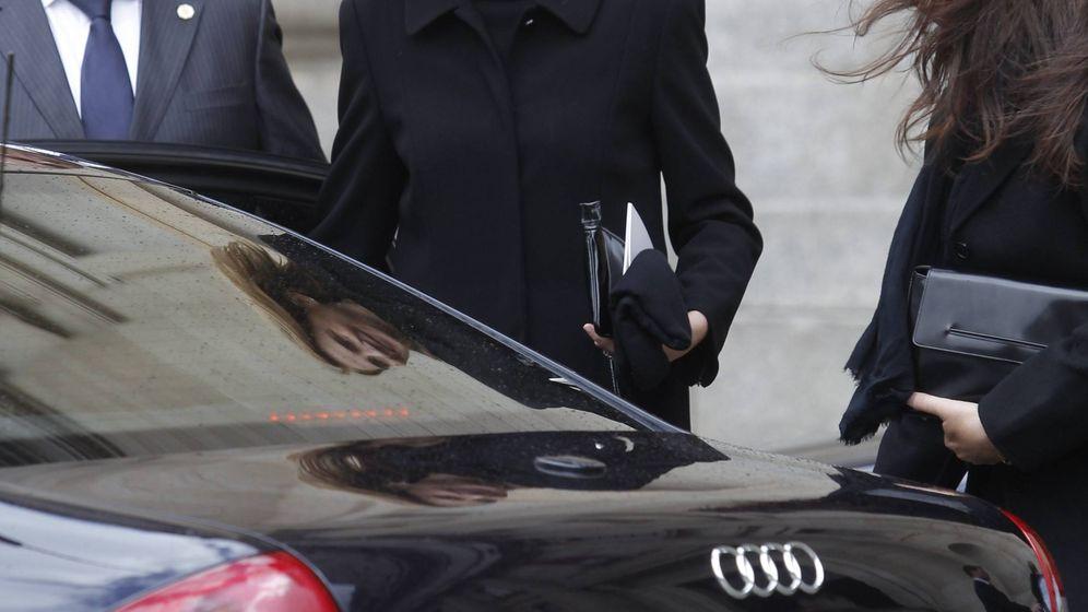 Foto: La infanta Cristina, saliendo del funeral de don Juan de Borbón. (Getty)