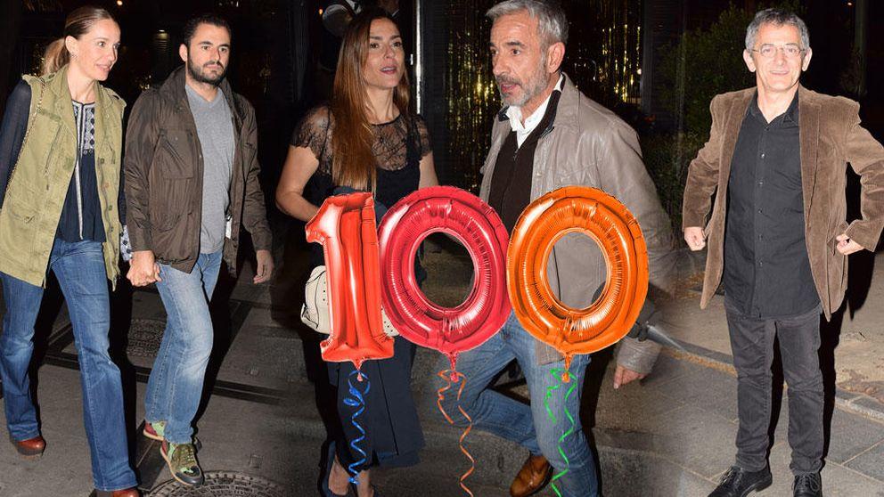 Imanol Arias y su novia, Irene Meritxell, celebran su 100 cumpleaños entre amigos