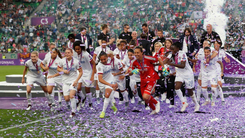 Foto: El Olympique de Lyon cumplió los pronósticos y ganó la Champions League. (Reuters)