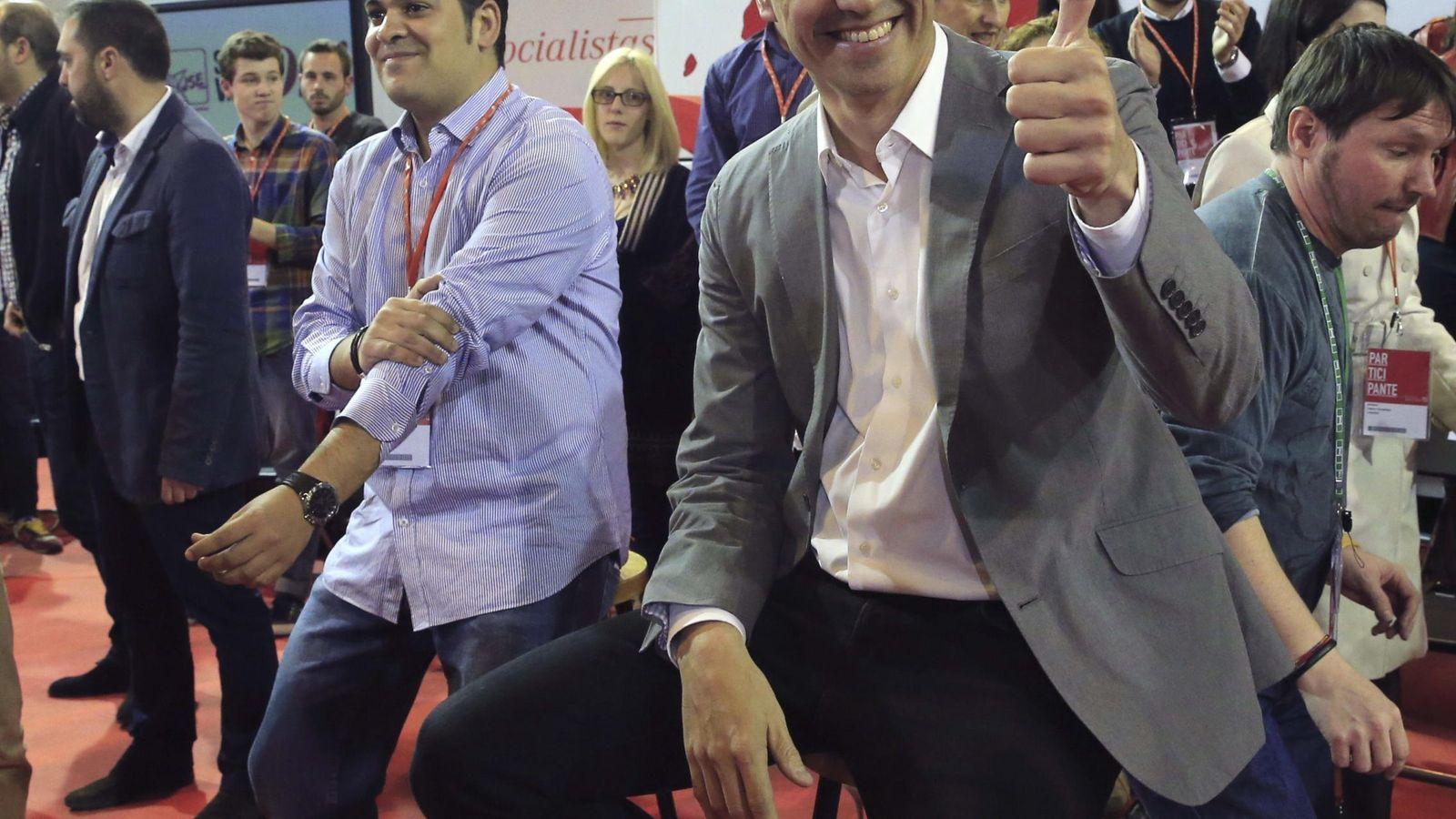 Foto: Pedro Sánchez, ayer, en la Conferencia socialista. (Efe)