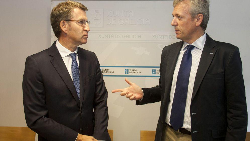 Foto: El presidente de la Xunta, Alberto Núñez Feijóo (i), junto al vicepresidente de la Xunta, Alfonso Rueda (d). (EFE)