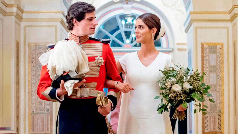 Fernando Fitz-James Stuart y Sofía Palazuelo, el día de su boda. (EFE)