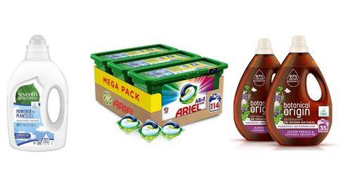 Los detergentes más utilizados en el hogar para lavar y desinfectar