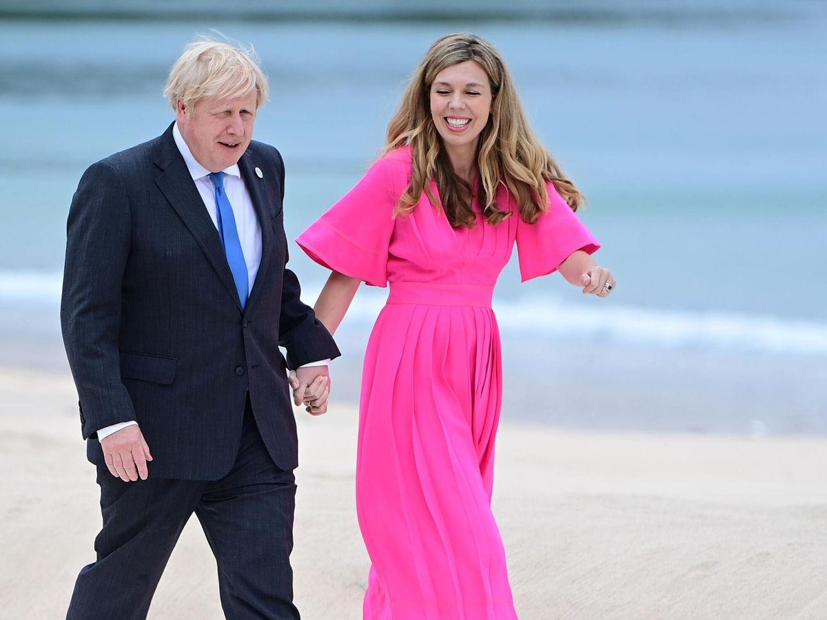 Foto: Boris Johnson y su mujer, Carrie, en una imagen de archivo. (EFE)