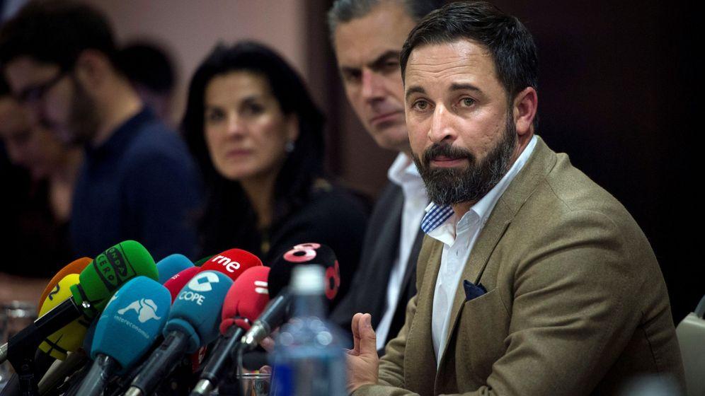 Foto: Santiago Abascal, en rueda de prensa. (EFE)