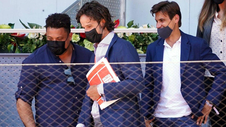 Ronaldo Nazario, Feliciano López y David Ferrer. (CP)