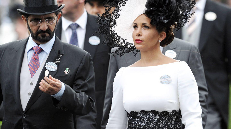 Haya de Jordania y el emir de Dubái, cuando eran habituales de la vida social inglesa y de Ascot. (Getty)