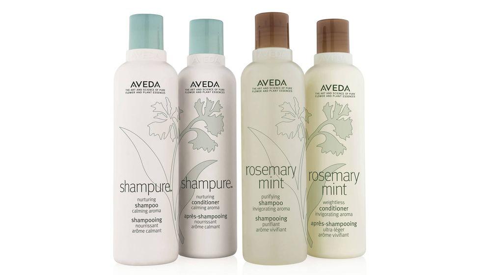 Foto: Los 'shampoos' y acondicionadores de las líneas 'Shampure' y 'Rosemary Mint' de Aveda.