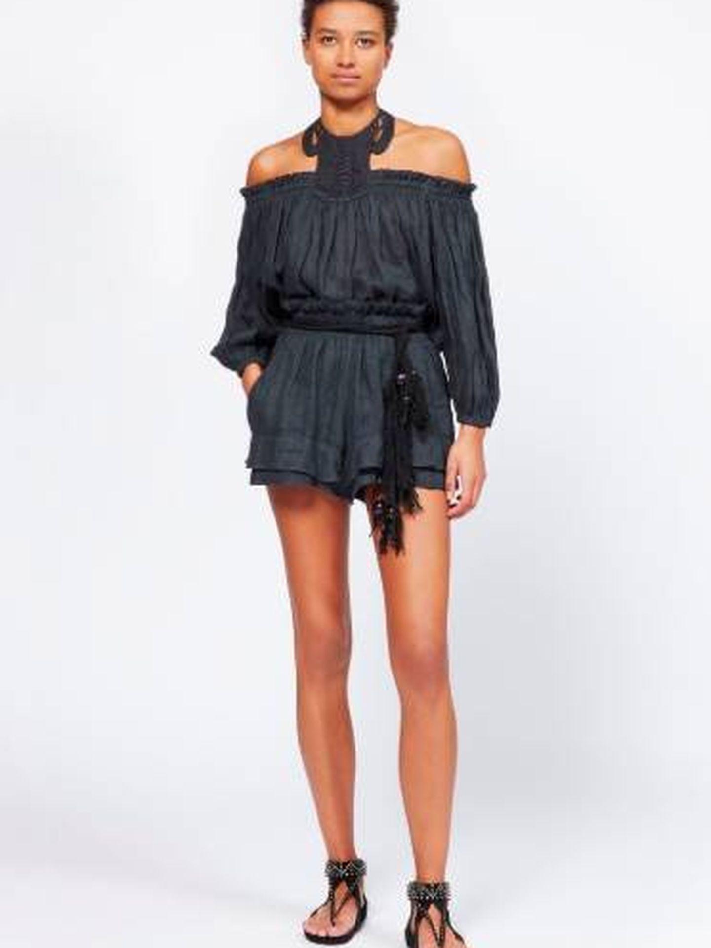 El conjunto que luce Sara está en la shop online de Isabel Marant. (Cortesía)