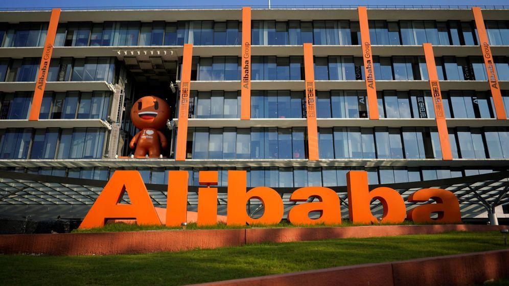Foto: Logo de Alibaba, matriz de AliExpress, en su sede general en Hangzhou, China. (Reuters)