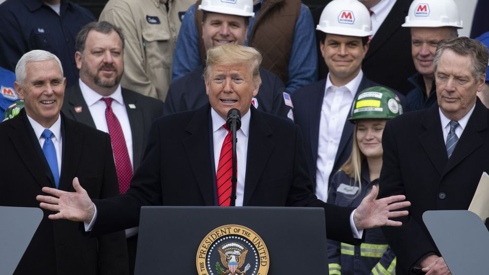 Foto: Trump en la firma del UMSCA (Reuters)