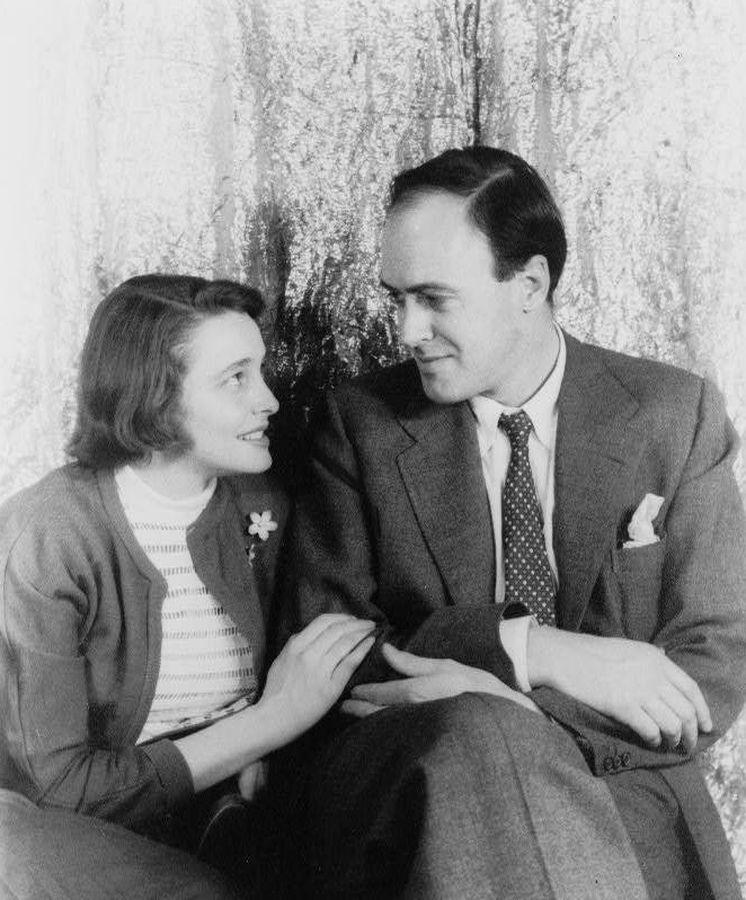 Foto: El matrimonio formado por la actriz Patricia Neal y Roald Dahl.