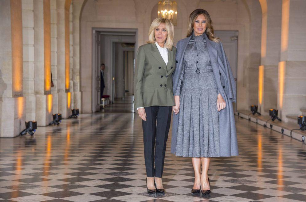 Foto: Brigitte Macron y Melania Trump. (Cordon Press)