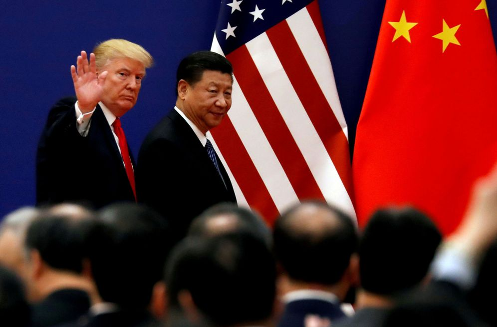 Foto: Donald Trump y Xi Jinping, en Pekín. (Reuters)