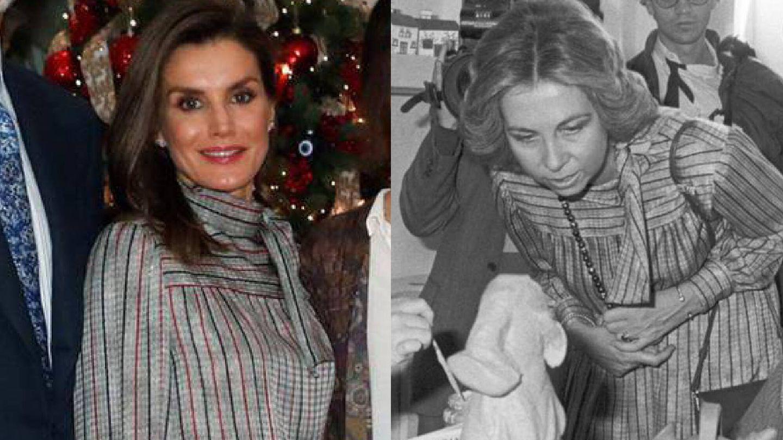 La reina Sofía y la reina Letizia. (Casa Real/EFE)
