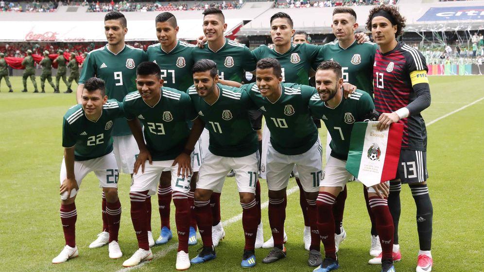 Foto: El once titular de México, antes del partido contra Escocia | Reuters