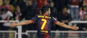 Foto: Villa ha quedado para ser titular de la Copa