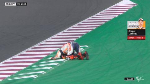 MotoGP: Jorge Lorenzo y su espectacular caída en los terceros libres de Qatar