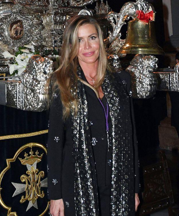 Foto: Raquel Bernal durante la Semana Santa de Málaga. (Gtres)