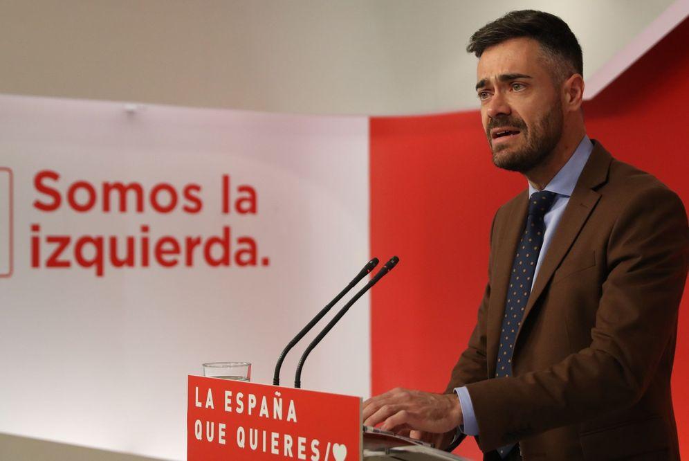 Foto: Felipe Sicilia, diputado por Jaén y portavoz adjunto del comité electoral del PSOE, este 20 de marzo en Ferraz. (EFE)