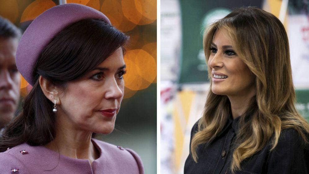 Foto: La princesa Mary y Melania Trump en imágenes de archivo. (Reuters)