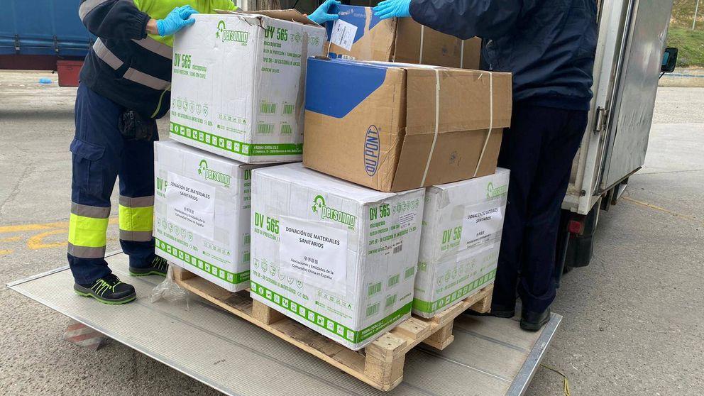 La comunidad china dona más de 1.200 mascarillas a Alcalá de Henares (Madrid)