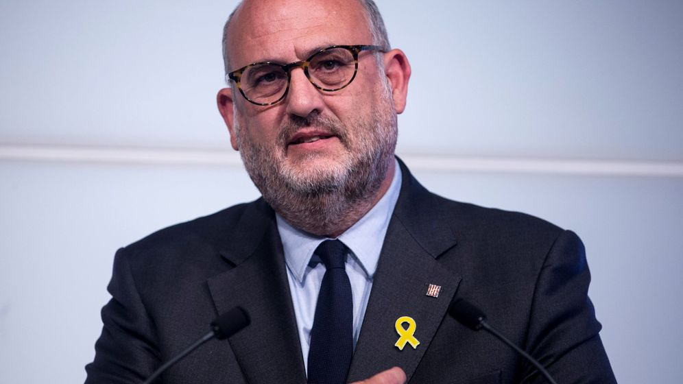 Foto: El portavoz adjunto del grupo parlamentario de Junts per Catalunya, Eduard Pujol. (EFE)