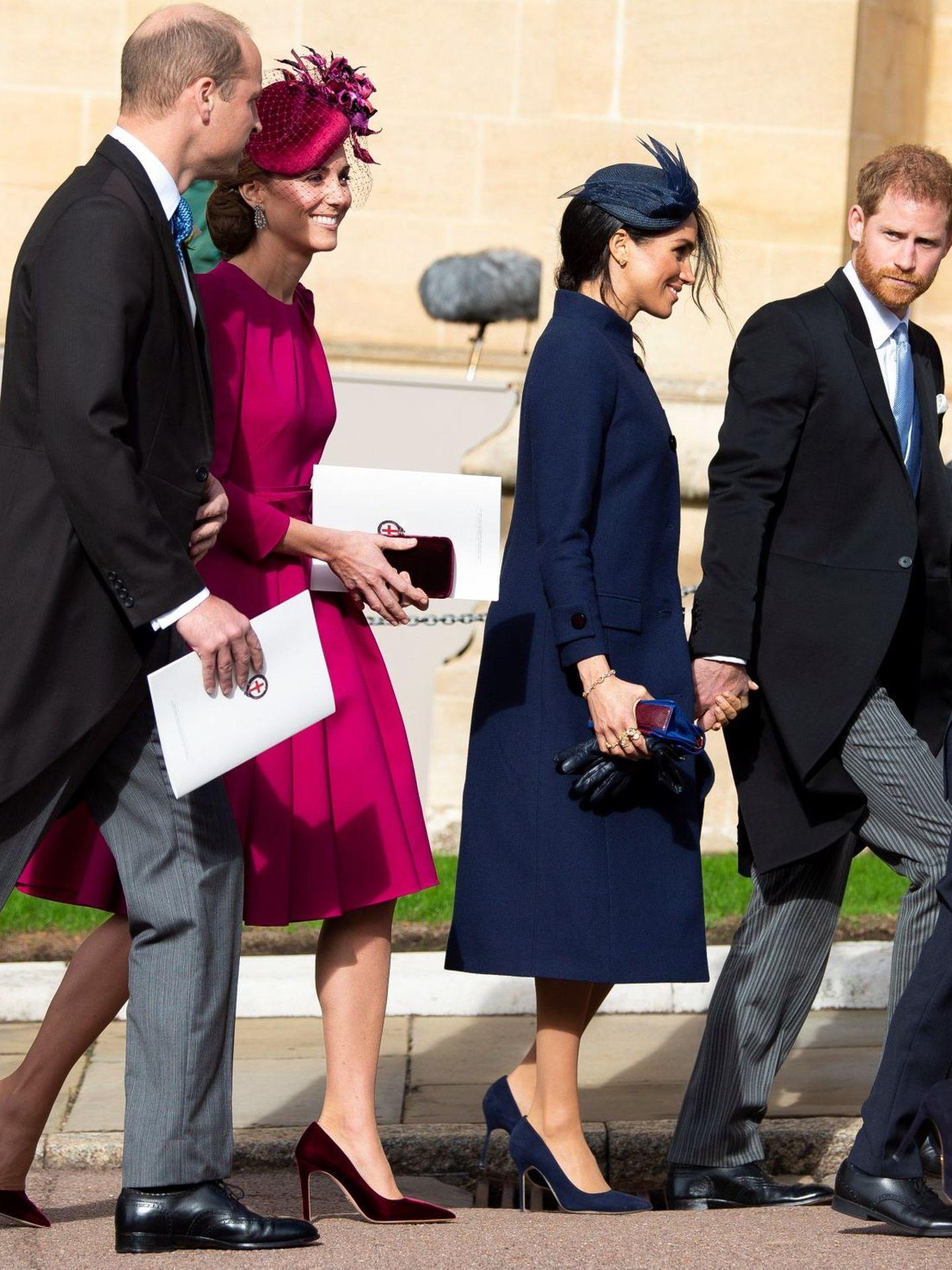 Los duques de Cambridge y los duques de Sussex en una imagen de archivo. (EFE)