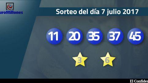 Resultados del sorteo del Euromillones del 7 de julio de 2017: números 11, 20, 35, 37 y 45