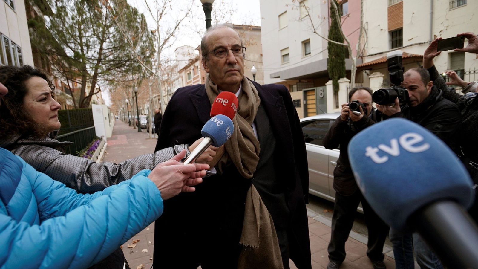 Foto: Francisco Franco en una foto de archivo a su llegada al juzgado de Teruel. (EFE)