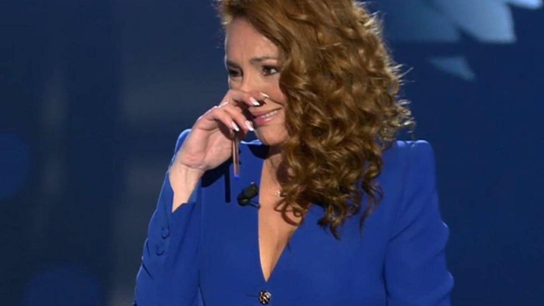 Rocío Carrasco, en la entrevista en directo. (Mediaset)