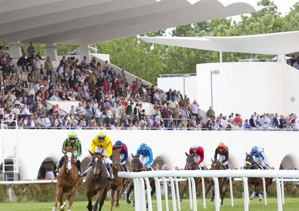 Foto: Imagen de una carrera de caballos en el Hipódromo de La Zarzuela