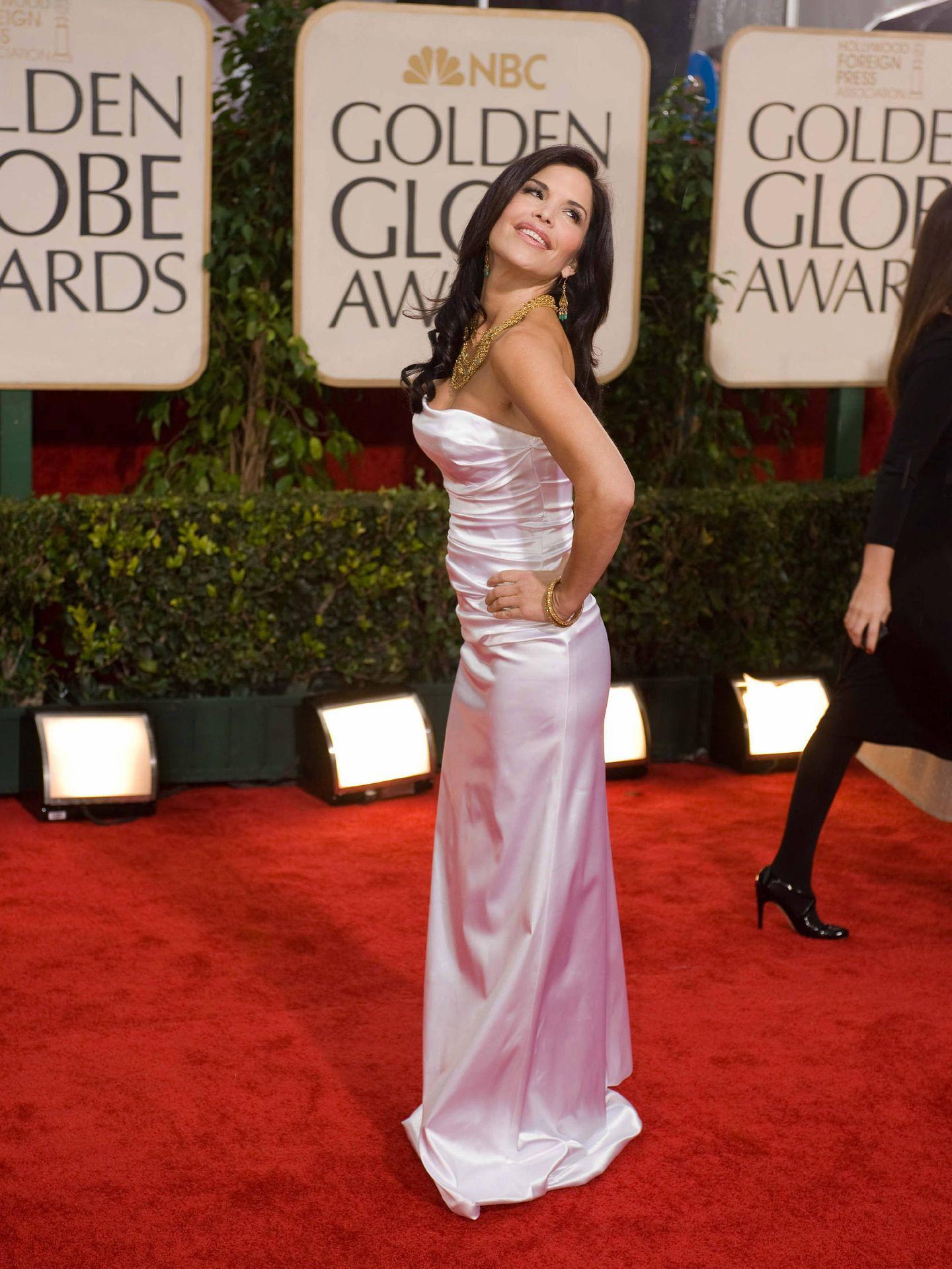 Lauren Sanchez,en la gala de los Globos de Oro. (EFE)