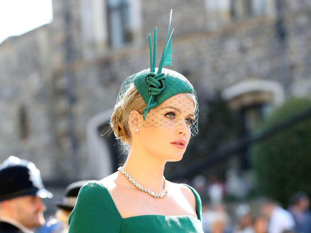Foto: Lady Kitty Spencer, vestida de Dolce & Gabbana en la boda de Meghan y Harry. (Reuters)