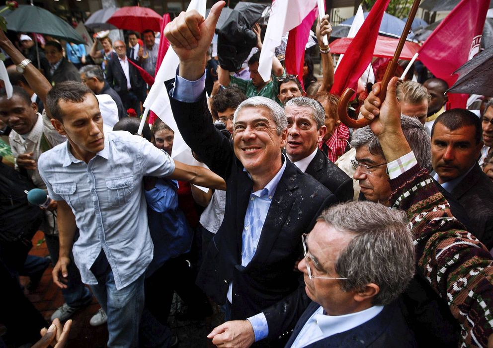 Foto: José Socrates, en un acto de campaña de 2011. (Efe)