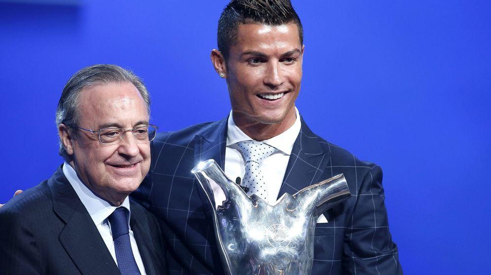 Foto: Florentino Pérez y Cristiano Ronaldo. (EFE)