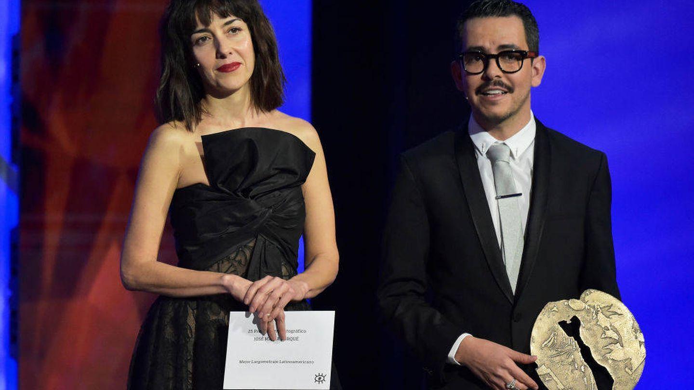 Cecilia Suárez y Manolo Caro, en los Premios Forqué en enero. (Getty)