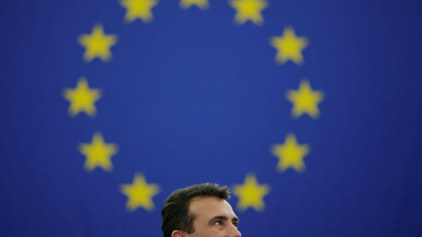 Foto: Macedonian prime minister zaev addresses the european parliament in strasbourg