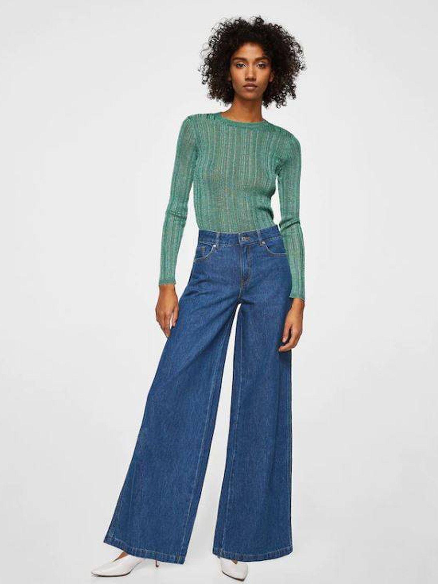 Jeans flare Wideleg de Mango. (15,99 €).