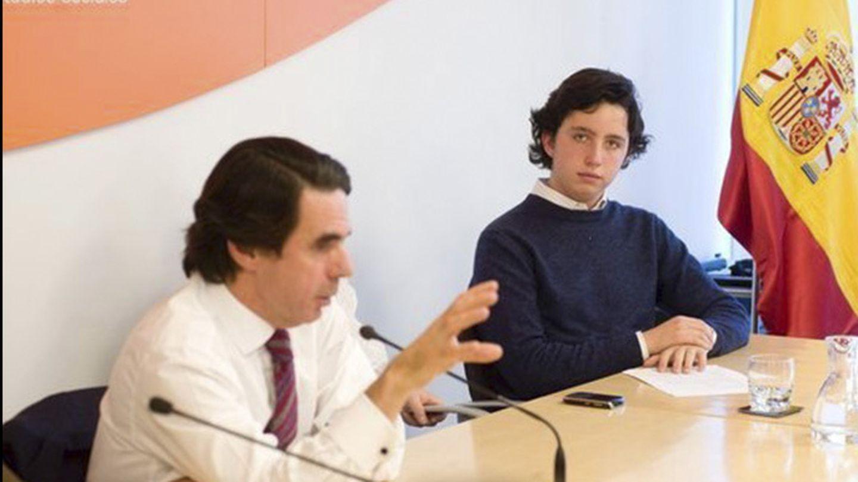 Francisco Nicolás con José María Aznar.