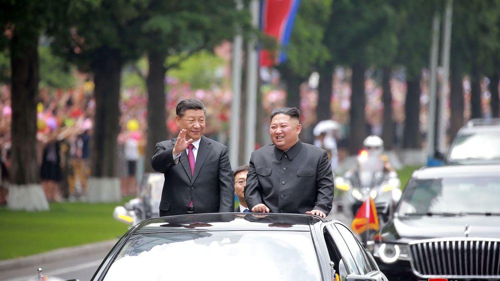 Foto: Xi Jinping junto a Kim Jong Un. (Reuters)