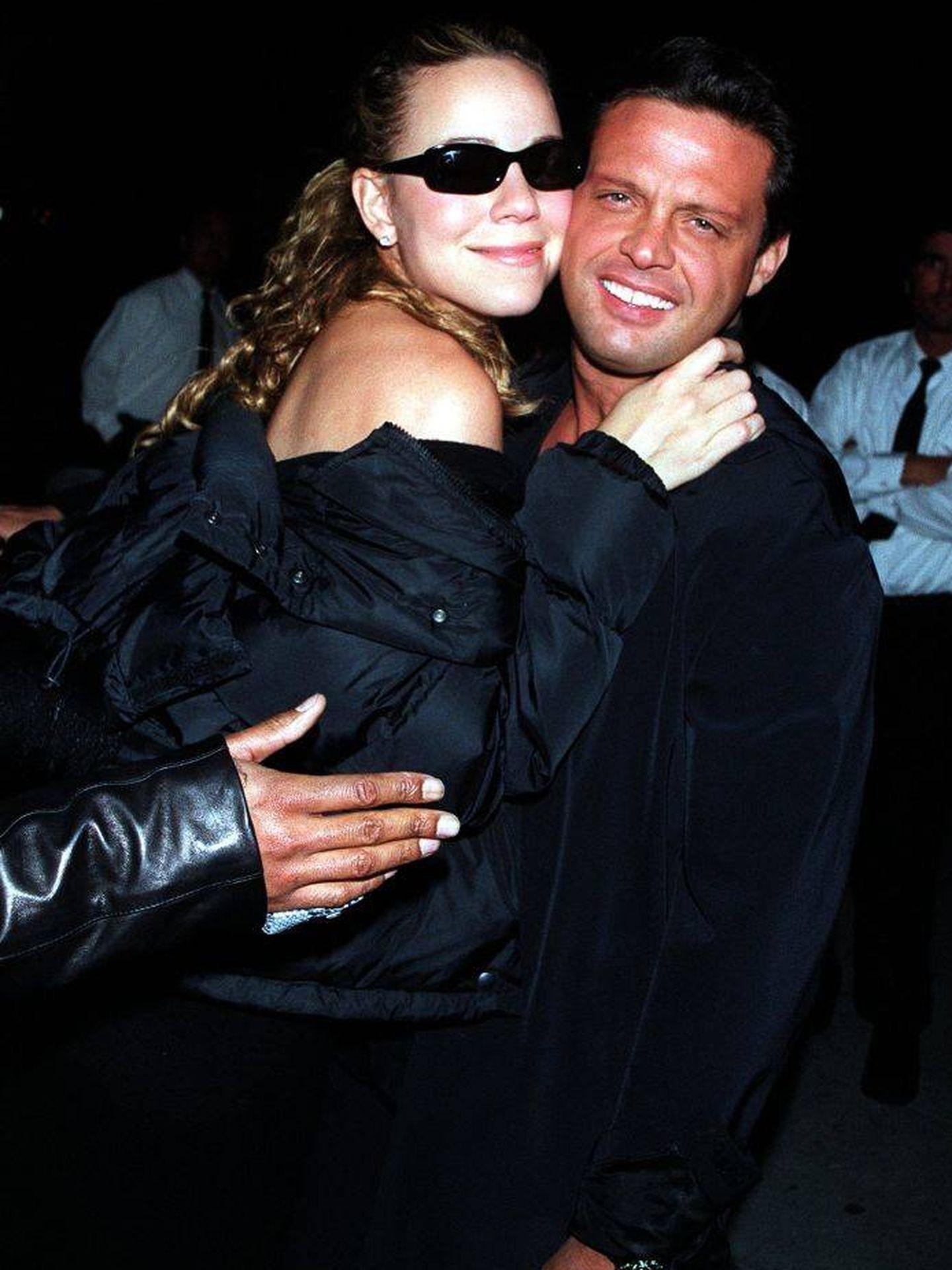 Luis Miguel, con Mariah Carey. (Getty)