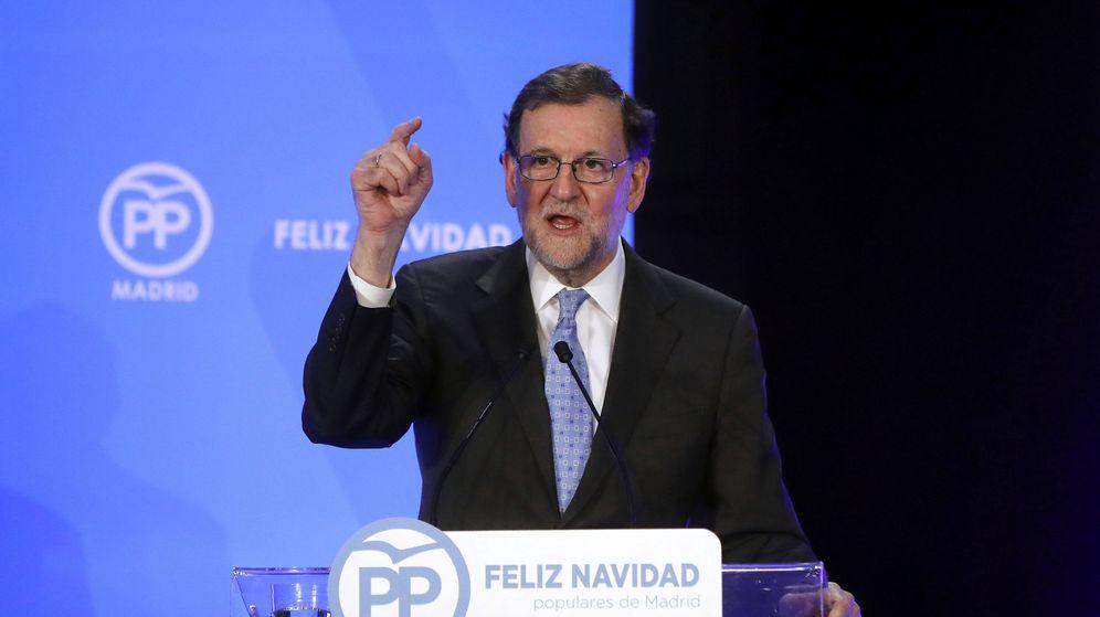 Foto: Mariano Rajoy en un acto del PP. (Efe)