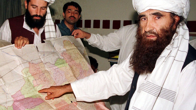 Jalaluddin Haqqani (dcha.) en Pakistán. (Reuters)