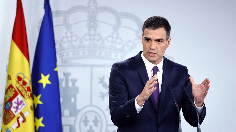Foto: Pedro Sánchez, durante su rueda de prensa de balance del curso político, este 3 de agosto. (EFE)