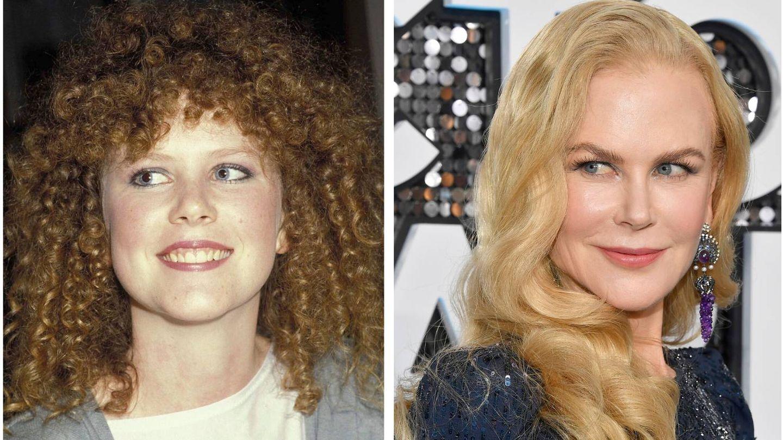 Nicole Kidman, en 1983 y en 2020. (Getty)