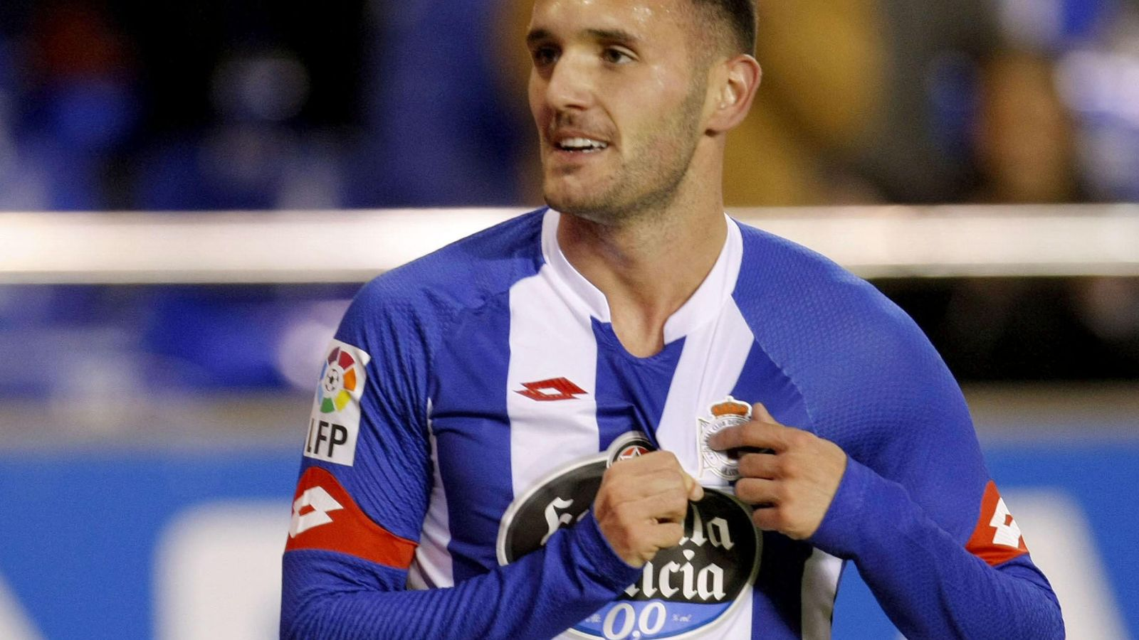 Foto: La soberbia temporada de Lucas Pérez le ha colocado en el punto de mira del Atlético de Madrid (EFE)