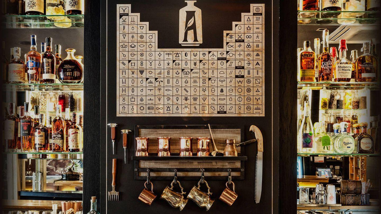 A imagen y semejanza de la que usaban los alquimistas, así es la tabla periódica que vas a encontrar en The Alchemix.  (Cortesía)
