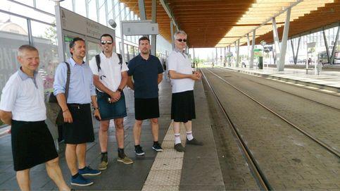 Empleados franceses van en falda a trabajar para sobrellevar la ola de calor