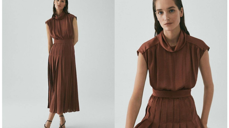 El vestido de Massimo Dutti en color terracota (Cortesía)